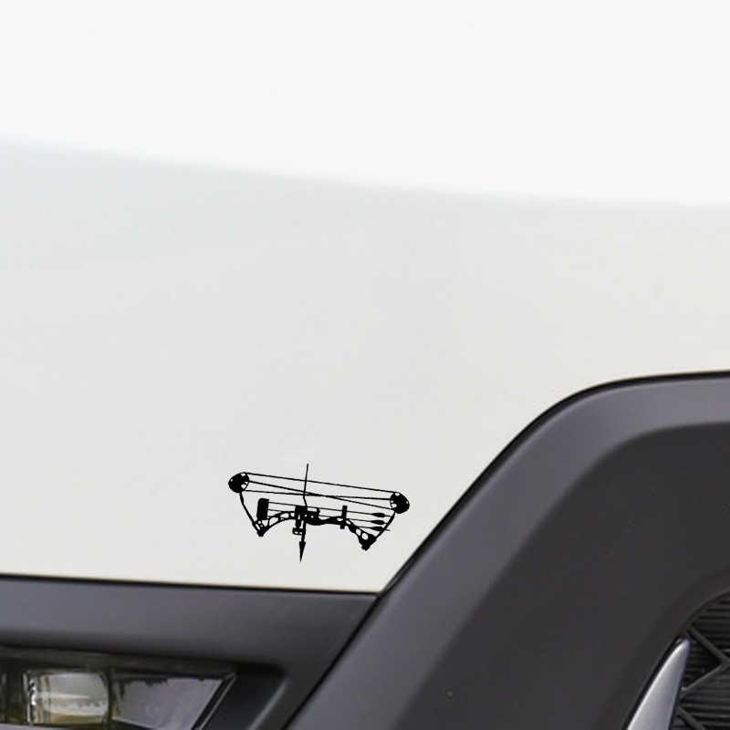 QYPF 14.4*7.8 سنتيمتر القوس السهم هنتر ديكور سيارة النمذجة ملصق صورة ظلية الفينيل عالية الجودة الشارات C16-1635