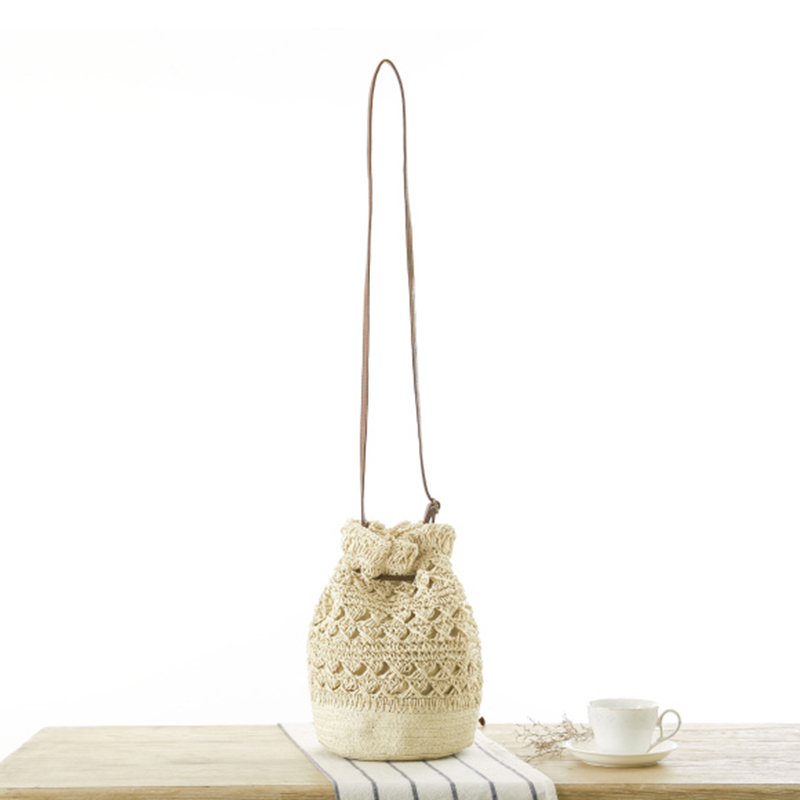 OCEHNUU Summer Flowers Beach Bag Woman Straw Shoulder Bag Woven Knitting Crossbody Bags For Women Messenger Bags Hollow Out 2020 3