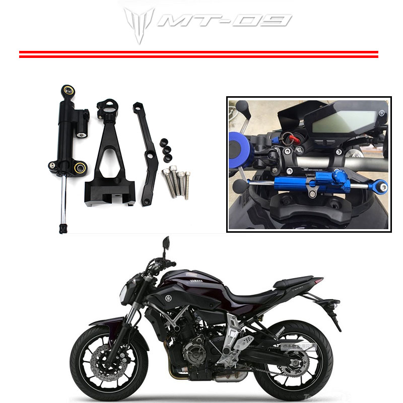 Motorcycle CNC Steering Damper Mounting Bracket For Yamaha MT-09 FZ-09 2013 2014 2015 fxcnc aluminum motorcycle steering stabilizer damper mounting bracket support kit for yamaha fz1 fazer 2006 2015 2007 2008 09
