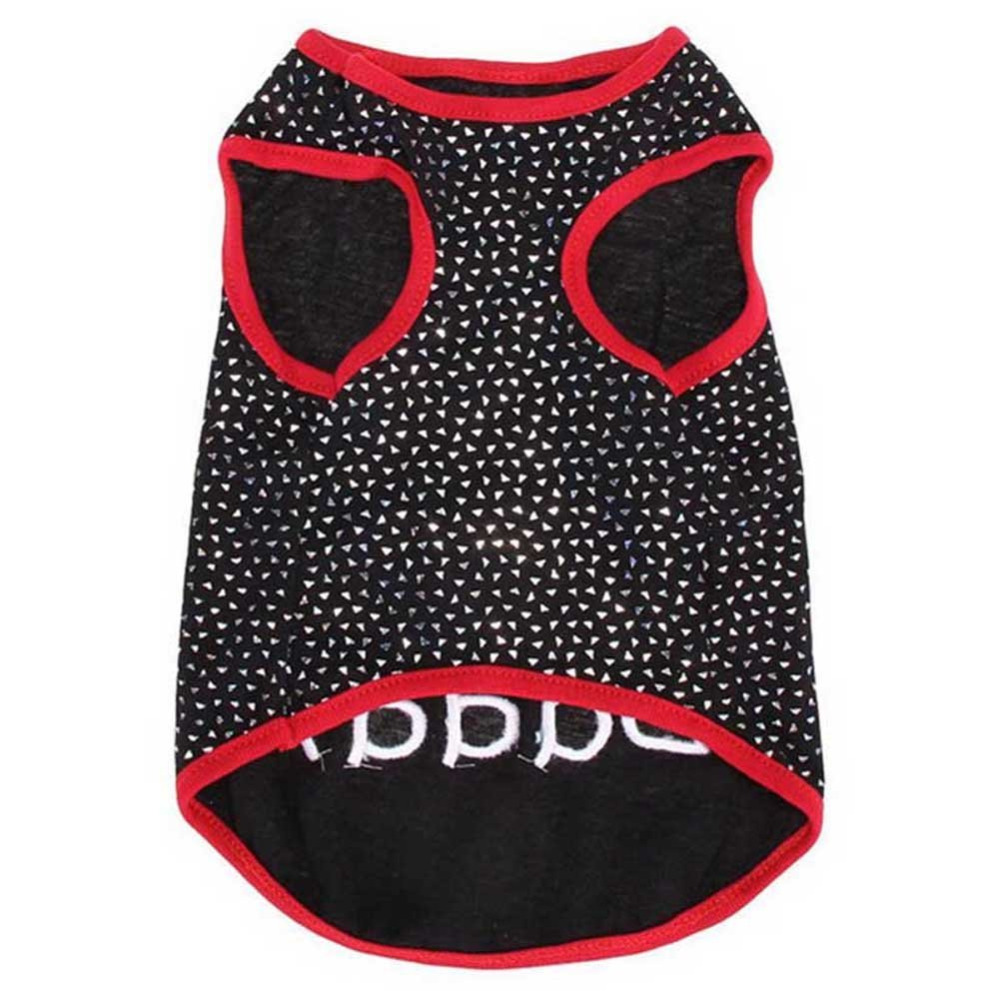 I Love My Daddy Puppy Vest T Shirt Summer Pet Apparel Cute Big Red Heart Small Dog Cat Pet Clothes Dots T-shirt XS S M L2