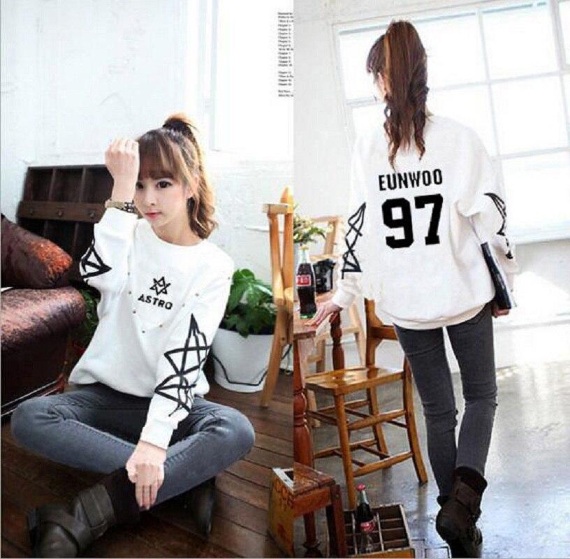 Mainlead KPOP ASTRO ROCKY Sweatershirt Women Hoodie JINJIN EUNWOO Pullover ...