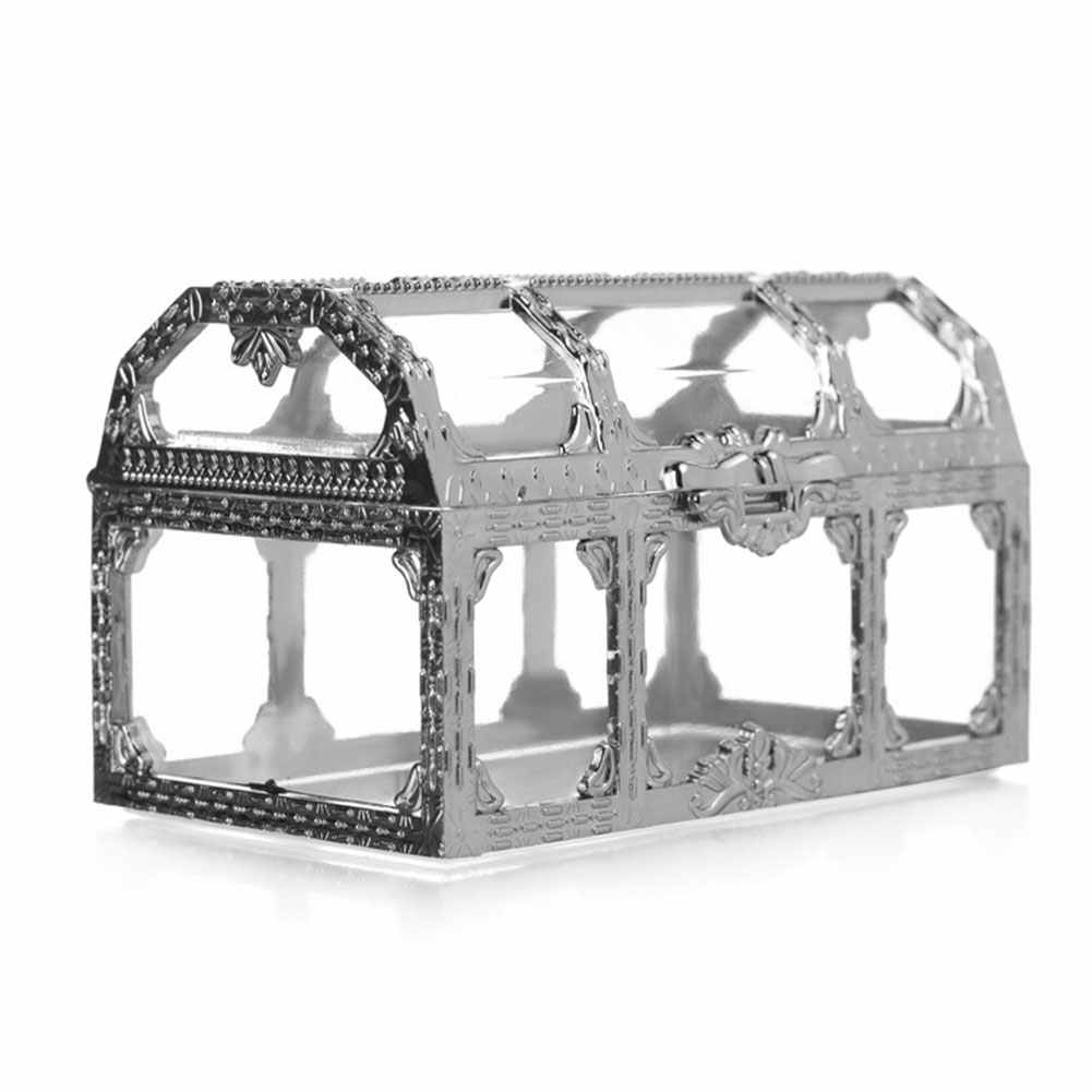 Jewelry Box Gem Trinket Home Case Treasure Storage Crystal Makeup Pirate Chest Candy Transparent Organizer Collectibles Mini