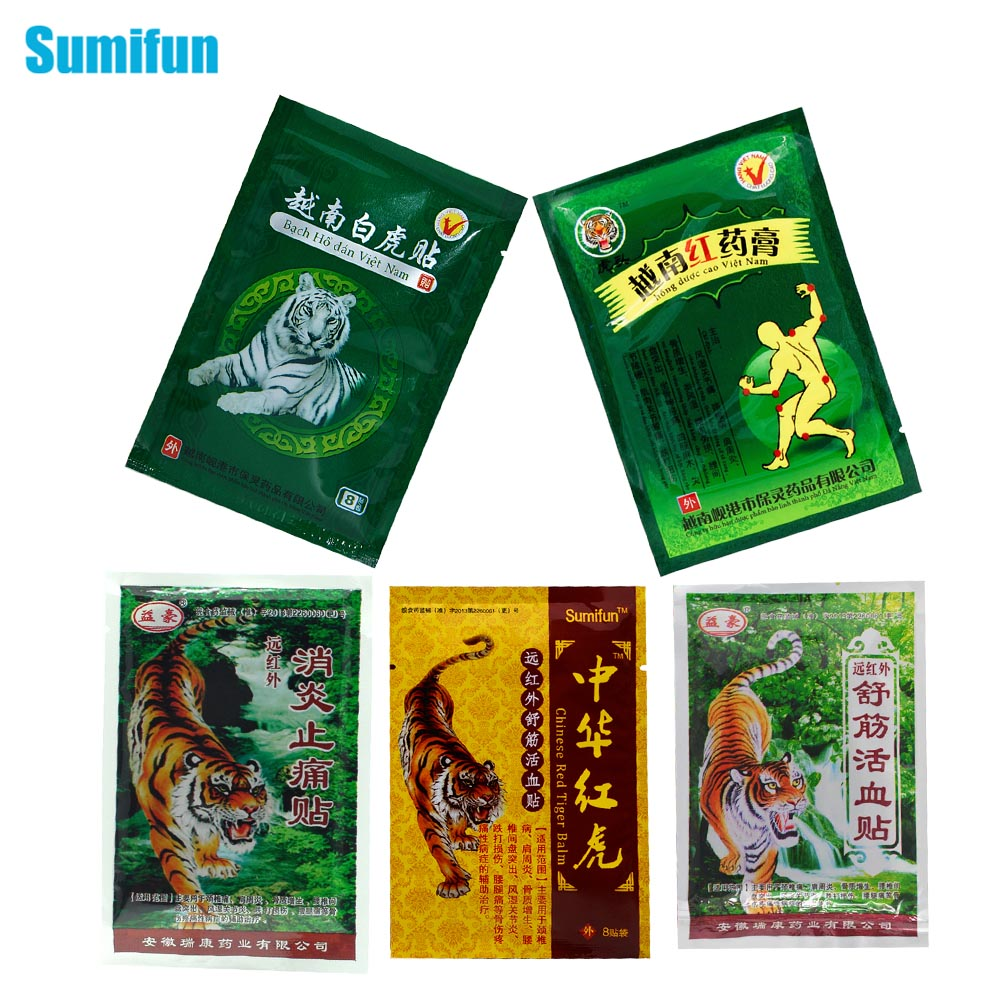 Sumifun 5typs Of Tiger Balm Pain Relief Patch Back Muscle Arthritis 100% Original Chinese Natural Herbal Medical Plaster D1713