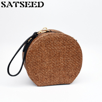 South Korea 2017 Summer New Handbag Fashion Shoulder Messenger Round Braided Women Bag Circular Crossbody Knitting