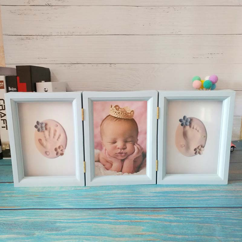 Baby Hand And Foot Print Casting Kit Newborn Footprint Toy Modeling Clay Memorial Gifts Souvenirs Children's Photo Frame Present