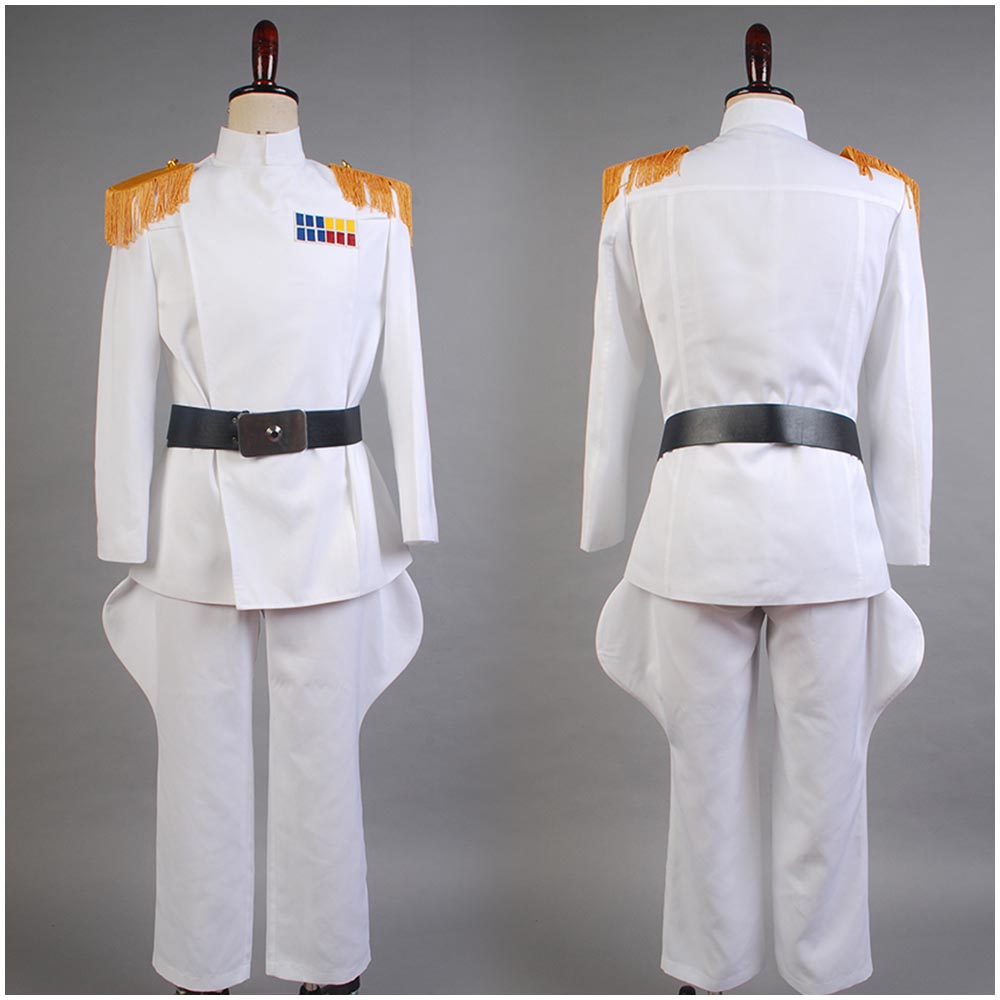 Star Wars Imperial Officer White Grand Admiral Cosplay Costume Uniform Halloween Carnival Costume Full Set