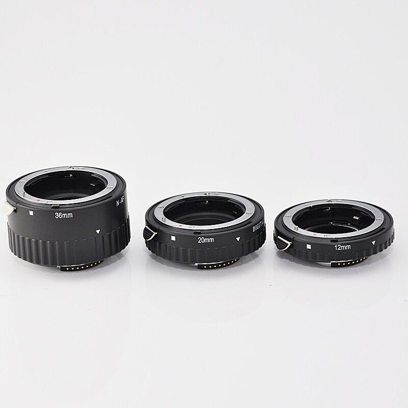 Tube d'extension automatique en métal AF pour Nikon D850 D750 D610 D500 D810 D800 D7500 D7200 D7100 D7000 D90 DSLR - 5