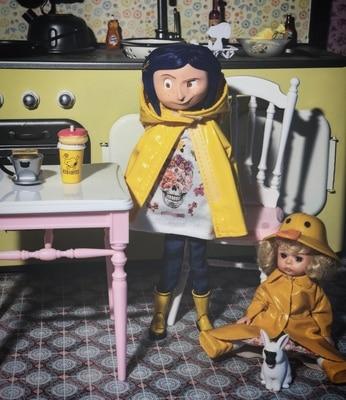 Neca Children S Toys Coraline The Secret Door Dolls Action Figure 7 Inch Raincoats Sweater Version Caroline Girl Present Action Toy Figures Aliexpress