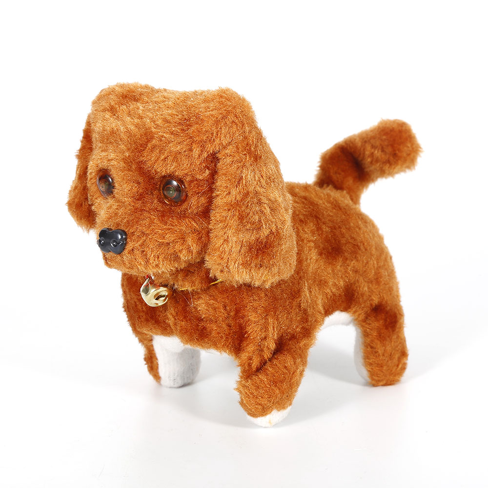 Electronic Little Puppy Toy Electric Walking Barking With Flash Light Eyes Dog Kids Toys Battery-operated Hot Sale