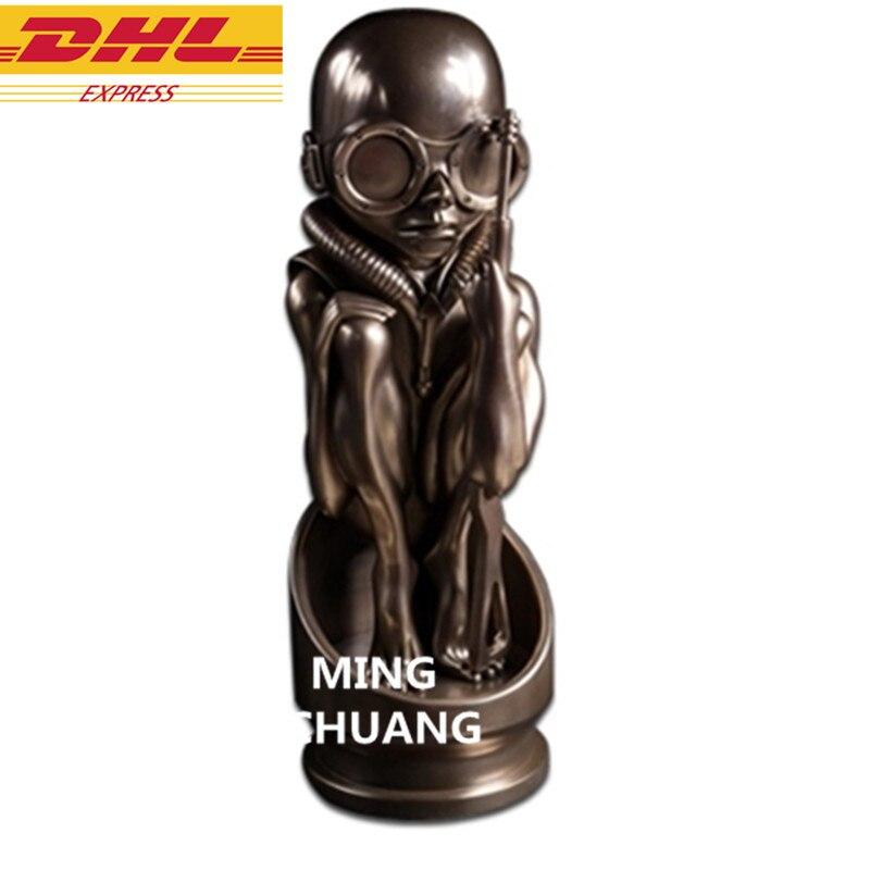 """15.35 """"extraterrestres VS prédateur Statue H. R. Giger buste AVP2 Art artisanat résine figurine à collectionner modèle jouet 39CM boîte D942"""