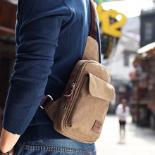Hot 2016 New Casual Men's Chest Pack Canvas Bags Multifunctional Small Male Messenger Bags Fashion Shoulder Bags