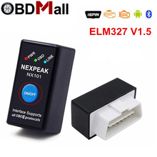 ELM327 V1.5 ODB 2 Autoscanner EML327 V1.5 OBD2 Bluetooth Adapter Mini ELM-327 ODB 2 Read Fault Code Car Diagnostic Scanner tool