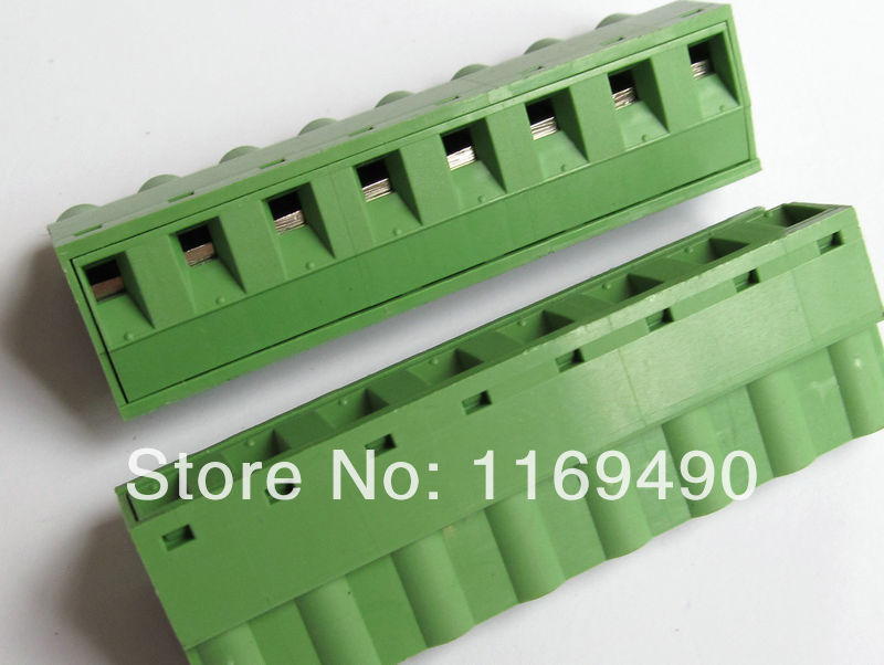10pcs Push-pull Wire Connectors Pitch 7.62mm 8P Screw bend pin Terminal blocks  Female , Free shipping 50 sets 4pin 2 54mm pitch 20cm wire pin header housing terminal connector wire connectors adaptor xh 4p kits