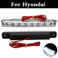 New 8 LED Daytime Running Light Fixed Iron Plates Screw DRL DC 12V For Hyundai Accent