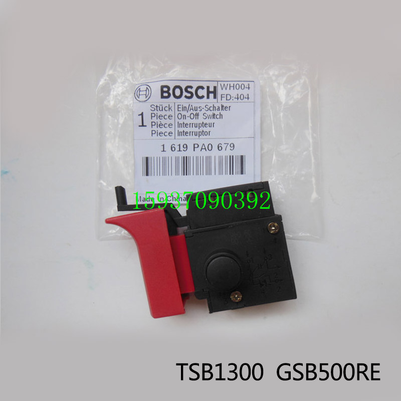 Free shipping!  Original Electric hammer Drill Speed Control Switch for bosch TSB1300/GSB500RE,Power Tool Accessories free shipping original electric hammer drill speed control switch for bosch tsb1300 gsb500re power tool accessories