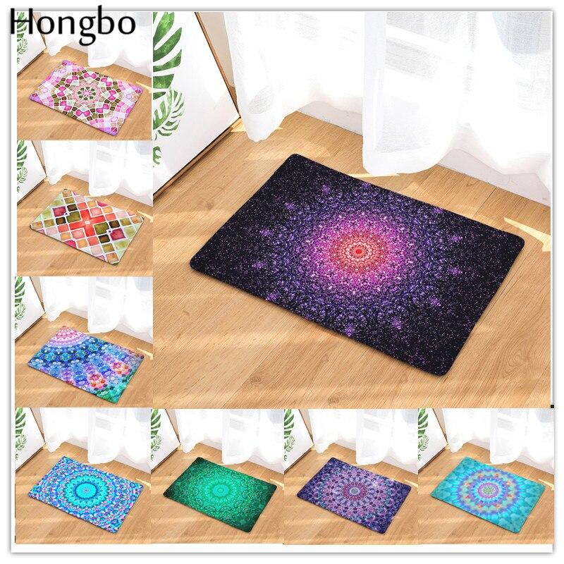 Hongbo Mandala Geometry Patte Fashion Rectangular Mats Entrance Doormats Washable Kitchen Mats for Home Floor Bathroom Mat     - title=