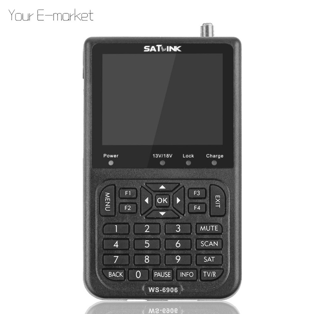 Satlink WS 6906 Satellite Finder 3 5 LCD Display DVB S FTA Digital Satellite Meter Signal