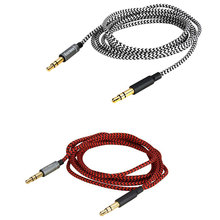 Replacement Audio nylon Cable For OPPO PM-3 PM3 AK K845BT Pioneer SE-MX9 SEC-MJ101BT 3.5mm to 3.5mm HEADPHONES