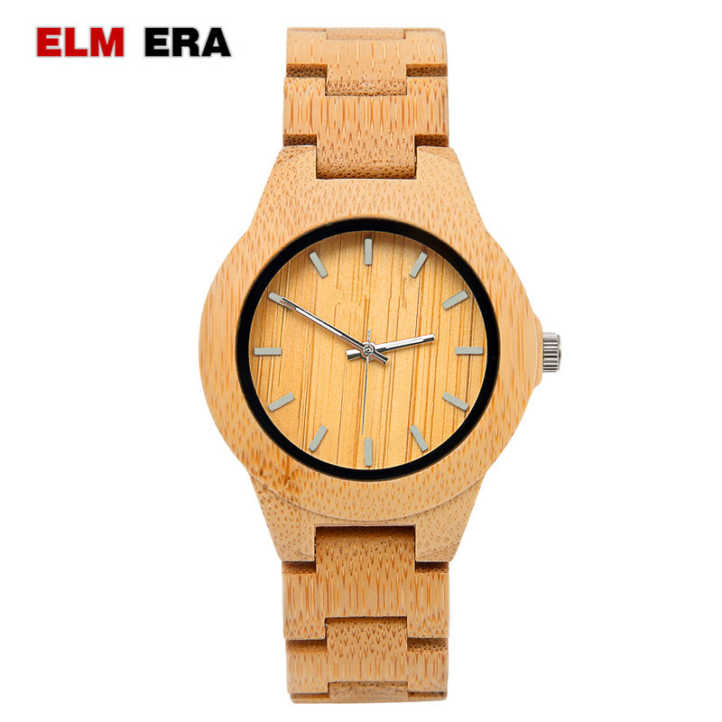 ELMERA Wood Watch Feminino Femme Women Montre Para Famous Unique Mujer Relojes