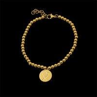 Moda Biżuteria Ze Stali Nierdzewnej Okrągły Dwustronne logo Charm Bransoletka Romantyczny Koraliki dla kobiet Lovers prezenty 3 Kolory