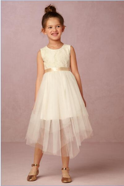 Straight Flower Girls Dresses For Wedding Gowns Ivory Girl Birthday Party Dress Lace Vestido de Daminha Mother Daughter Dresses new white ivory nice spaghetti straps sequined knee length a line flower girl dress beautiful square collar birthday party gowns