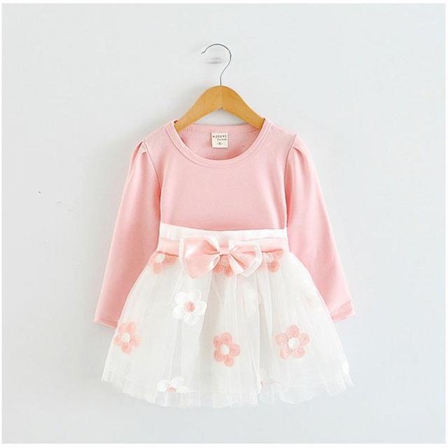 Dễ thương Em Bé Dresses cho Cô Gái Sinh Nhật Bé Dài tay áo Công Chúa Làm Lễ Rửa Tội Áo Choàng Mùa Đông Cô Gái Giản Dị Dresss Vestido Infantil 24 M