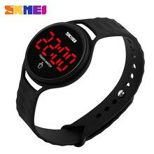 SKMEI Women LED Display Watches Fashion Casual Touch Screen Digital Watch  PU Strap Wristwatches 30M Waterproof 1230 цена