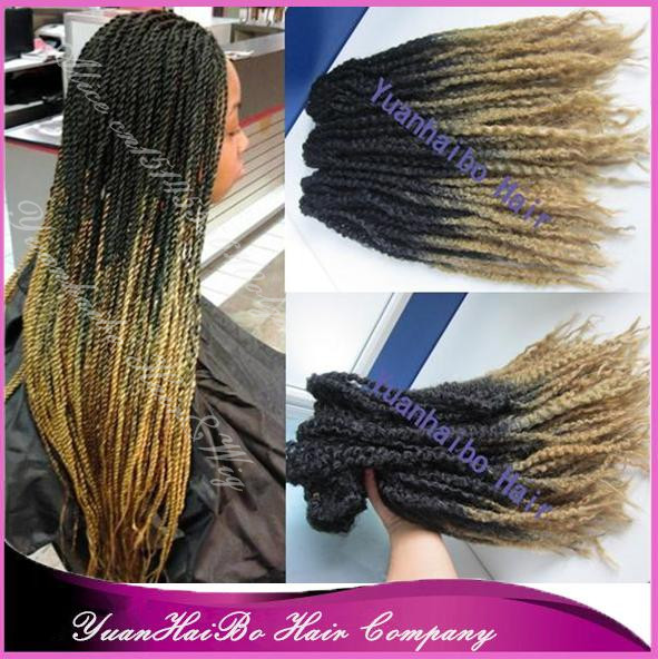 Stock Wholesale 20inch Folded Two Tone Black Blonde