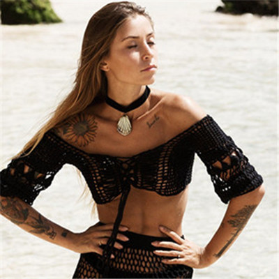 Handmade Sexy Beach Cover Up Clothing Top Crochet11