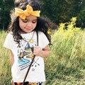 Ins caliente-venta de primavera y verano de los niños ropa de bebé niño niño todo-fósforo 100% ALGODÓN Camisetas DEL BEBÉ ROPA de BEBÉ NIÑA