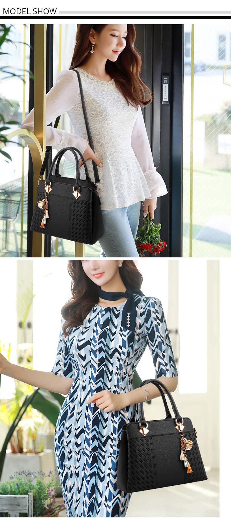 STSR Leather Clutch Bag Female Handbag Luxury Beach Tote Ms. Fringe Shoulder Bag Tote gray one size 20