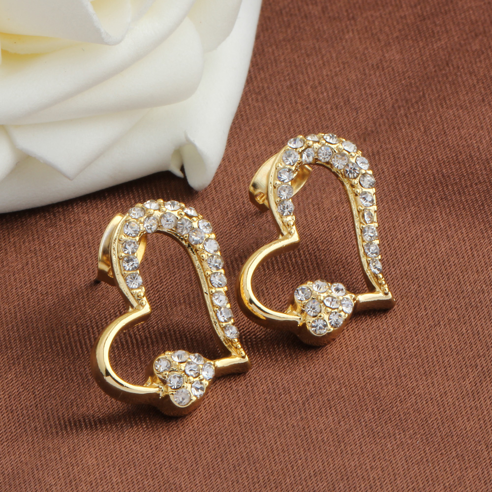 New style stud earrings 2016 oorbellen simple gold earrings for ...