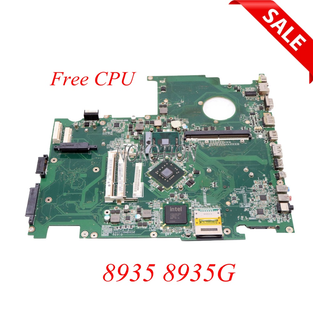 NOKOTION MBPDB06002 MB.PDB06.002 DA0ZY8MB6D0 Mainboard For acer aspire 8935 8935G laptop motherboard with graphics slot FREE CPU nokotion pn 1310a2184401 mb apq0b 001 mbapq0b001 for acer aspire 6920g laptop motherboard with graphics slot free cpu
