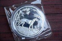 Rare 999 Shanghai Mint 5oz Silver Coin,Dog,1994,free shipping