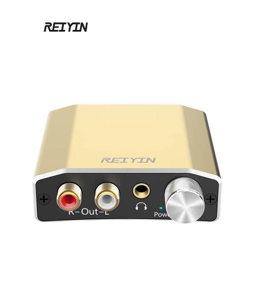 Unterhaltungselektronik Digital-analog-wandler Treu Dac 192 Khz 24bit Audio Converter Digital Optical Koaxial Toslink Zu Analog Stereo L/r Rca 3,5mm Adapter Mit Volumen Schalter Gold