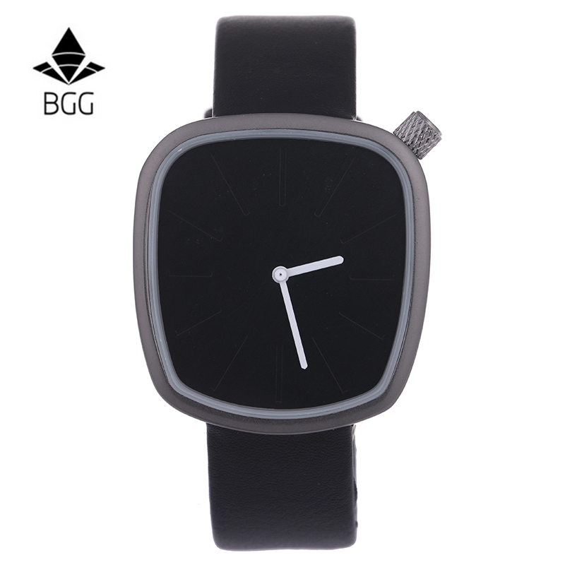 BGG Luxury Irregular Shape men wristwatch Men's Leather Strap Quartz watches Fashion Military Sport Watch simple male clock hour xinge top brand luxury leather strap military watches male sport clock business 2017 quartz men fashion wrist watches xg1080