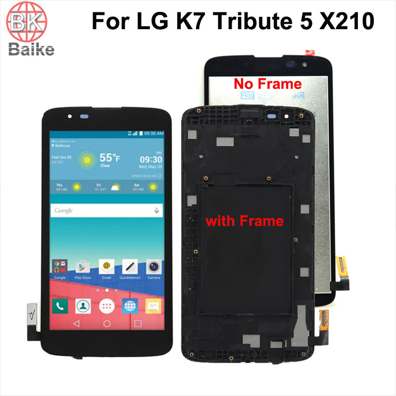 5 inch ORiginal For LG K7 X210 X210DS Lcd Screen Display with Digitizer Touch screen Assembly with Frame For LG K7 X210