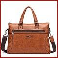 Brand POLO Bag Men Handbags Leather Briefcase Fashion Shoulder Bags Vintage Crossbody Satchel Man Tote Bag Men Messenger Bags