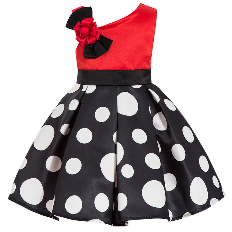 Girls Floral Beach Princess Dress for baby girls summer Printed Dot Sleeveless dresses Children Clothing 2018 Girl clothing 8