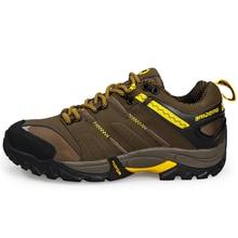 2016 Mens Hiking Boot Summer Trekking Shoes Men Gray/Brown Men Shoes Sneakers Big Size Outdoor Climbing Shoes Men