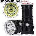 Snowshine2 #2001 Велосипедов Аксессуары 34000LM 14x CREE XM-L T6 СВЕТОДИОДНЫЙ Фонарик Факел 4x18650 Охота Свет Лампы бесплатный доставка