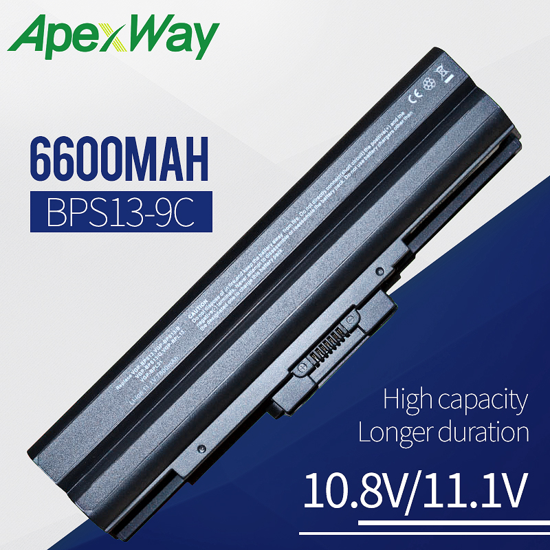 6600mah Laptop battery for SONY VGP BPS13B VGP BPS13B/B VGP BPS13B/Q VGP BPS21 VGP BPS21A VGP BPS21B|laptop battery for sony|laptop battery|battery for laptop - title=