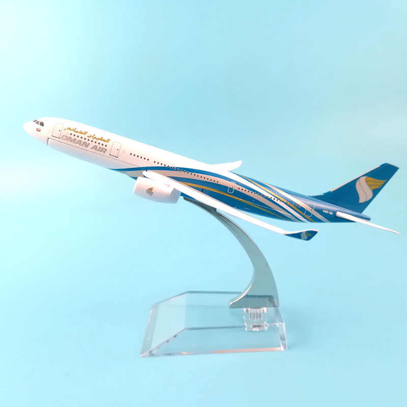 16CM AIRLINES  A330 OMAN AIR  AIRCRAFT MODEL MODEL PLANE SIMULATION 16 ALLOY CHRISTMAS TOYS GIFT KIDS