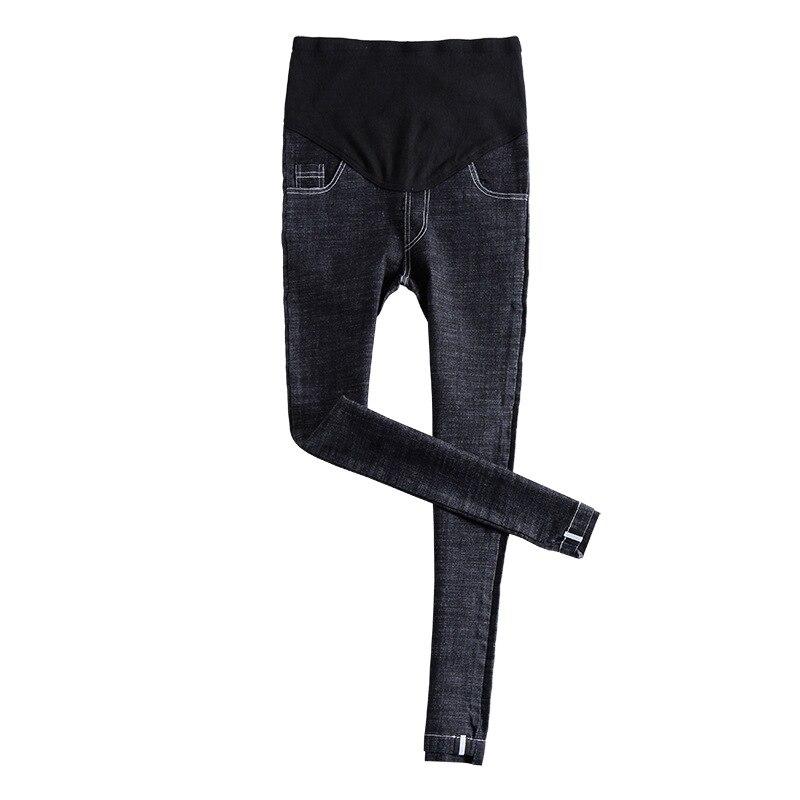 Весенне-осенние модные джинсы для беременных женщин эластичная резинка на талии джинсы беременность pantalon embarazada Одежда для беременных - Цвет: Черный