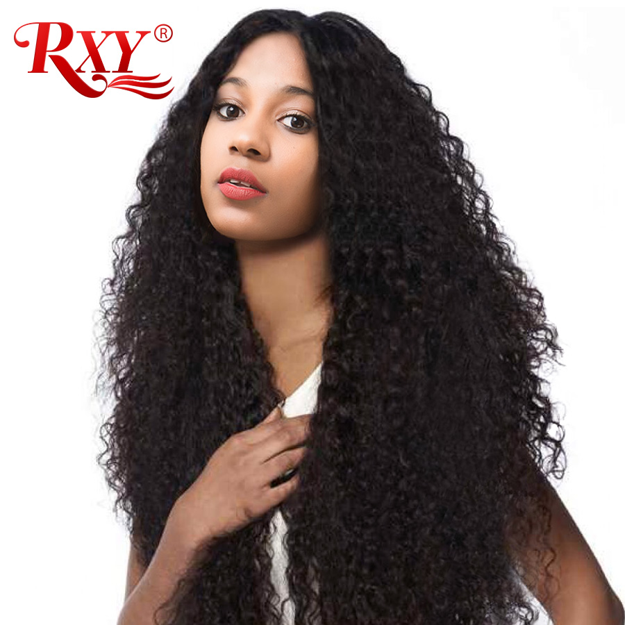 "Rxy Malaysian Afro Kinky Curly Hair Bundles 8""-28"" Remy Hair Extensions Natural Hair Weave 100% Human Hair Bundles No Tangle 1pc"