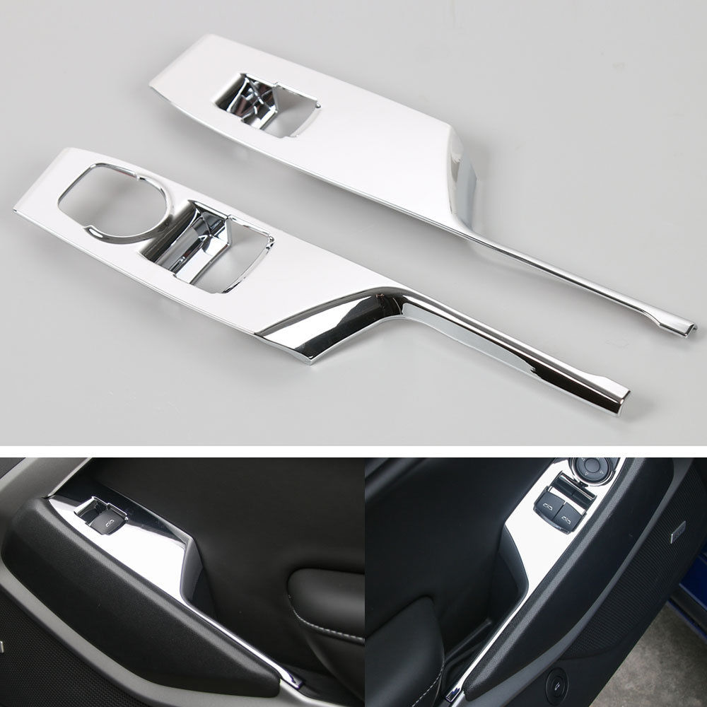 Car Styling Window Lift Switches Panel Decorative Cover Frame Trim ABS Fit For Chevrolet Camaro 2017