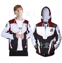 New Avengers Endgame Quantum Realm Sweatshirt Jacket Unisex Advanced Tech Hoodie Cosplay Costumes