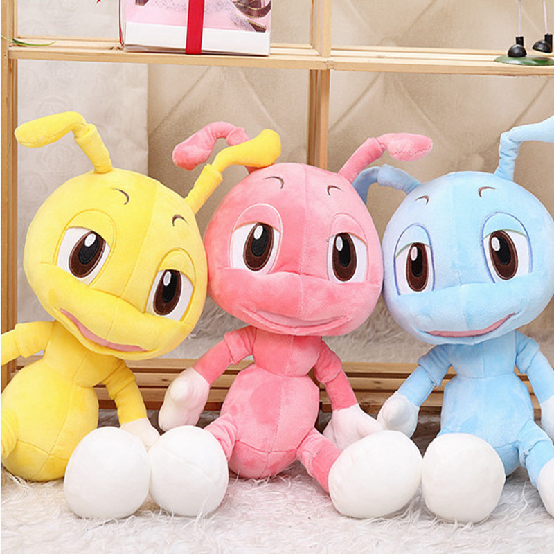 2016 New Cute Ant Plush Toys Soft Cartoon Peluche Animal Doll 3 Colors Children brinquedos for Birthday Gift 15.7 4 colors pusheen plush cute soft animal toy giraffe plush doll birthday gift toys for children 18cm baby dolls free shipping