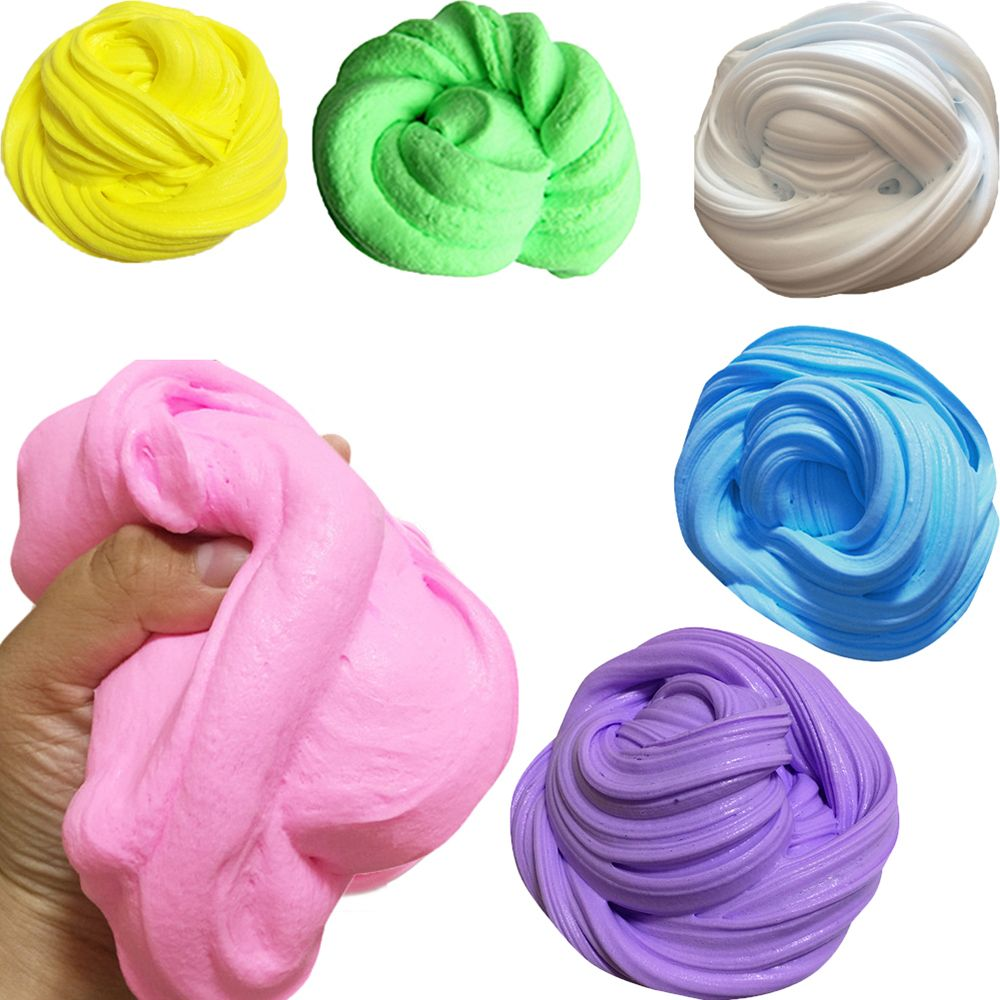New Fluffy Floam Slime DIY Heat Discoloration Rubber Mud Slime Putty Scented Tub Stress Relief No