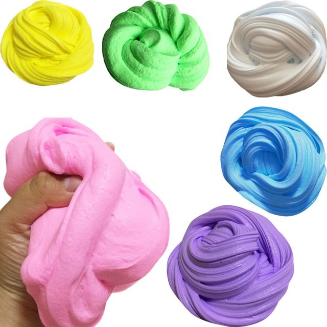 New Fluffy Floam Slime DIY Heat Discoloration Rubber Mud Slime Putty Scented Tub Stress Relief No Borax Kids Sludge Toy Fun